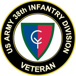 U.S. Army 38th Infantry Division Veteran Sticker Decal