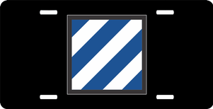 U.S. Army 3rd Infantry Division License Plate