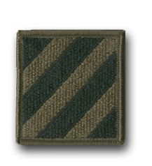 U.S. Army 3rd INFANTRY DIVISION SUBDUED 2¼