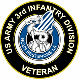 U.S. Army 3rd Infantry Division Unit Crest Veteran Sticker Decal