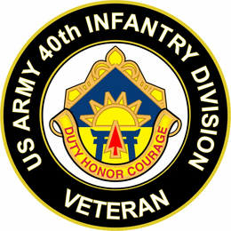 U.S. Army 40th Infantry Division Unit Crest Veteran Sticker Decal