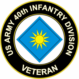 U.S. Army 40th Infantry Division Veteran Sticker Decal