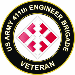 U.S. Army 411th Engineer Brigade Veteran Sticker Decal