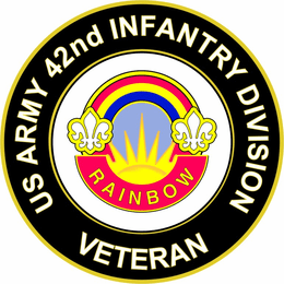U.S. Army 42nd Infantry Division Unit Crest Veteran Sticker Decal