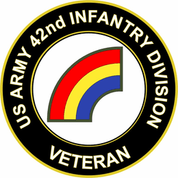 U.S. Army 42nd Infantry Division Veteran Sticker Decal