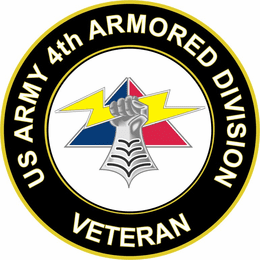 U.S. Army 4th Armored Division Unit Crest Veteran Sticker Decal