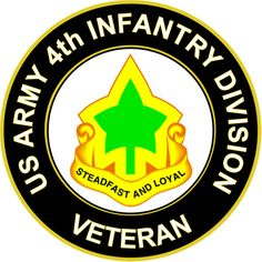 U.S. Army 4th Infantry Division Unit Crest Veteran Sticker Decal