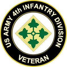 U.S. Army 4th Infantry Division Veteran Sticker Decal