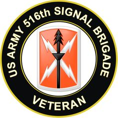 U.S. Army 516th Signal Brigade Veteran Sticker Decal