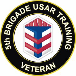 U.S. Army 5th Brigade USAR Training Veteran Sticker Decal