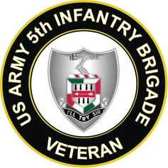 U.S. Army 5th Infantry Brigade Unit Crest Veteran Sticker Decal