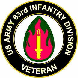 U.S. Army 63rd Infantry Division Veteran Sticker Decal