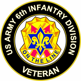 U.S. Army 6th Infantry Division Unit Crest Veteran Sticker Decal