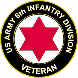 U.S. Army 6th Infantry Division Veteran Sticker Decal