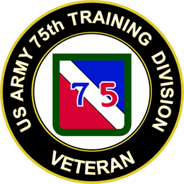 U.S. Army 75th Infantry Division Veteran Sticker Decal