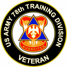 U.S. Army 78th Training Division Unit Crest Veteran Sticker Decal