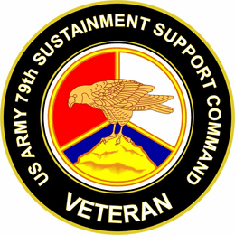 U.S. Army 79th Sustainment Support Command Veteran Sticker Decal