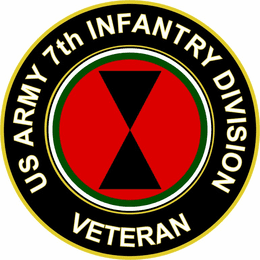 U.S. Army 7th Infantry Division Veteran Sticker Decal