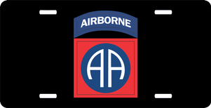 U.S. Army 82nd Airborne License Plate