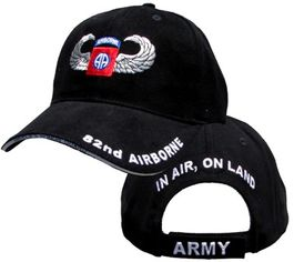U.S. Army 82nd Airborne with Wings Embroidered Ball Cap