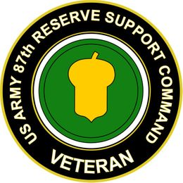 U.S. Army 87th Reserve Support Command Veteran Sticker Decal