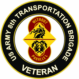 U.S. Army 8th Transport Brigade Veteran Sticker Decal