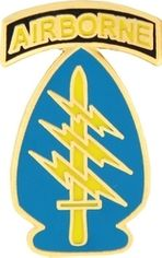 U.S. Army Airborne Special Forces Lapel Hat Pin