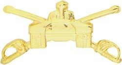 U.S. Army Armored Tank with Sabres Lapel Hat Pin