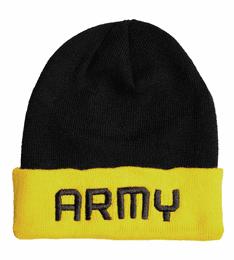 U.S. Army Black and Gold Watch Cap