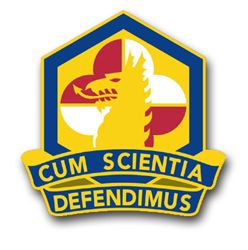 U.S. Army Chemical and Biological Defense Command Unit Crest Vinyl Transfer Decal