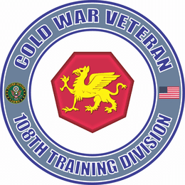U.S. Army Cold War 108th Training Division Veteran Decal
