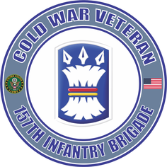 U.S. Army Cold War 157th Infantry Brigade Unit Crest Veteran Decal