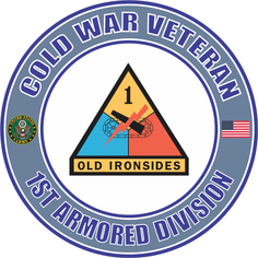 U.S. Army Cold War 1st Armored Division Veteran Decal Sticker