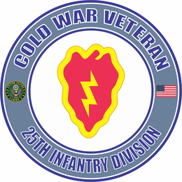 U.S. Army Cold War 25th Infantry Veteran Decal