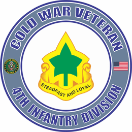 U.S. Army Cold War 4th Infantry Division Unit Crest Veteran Decal