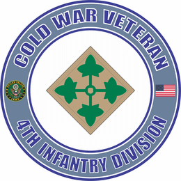 U.S. Army Cold War 4th Infantry Division Veteran Decal