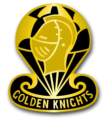 U.S. Army Golden Knights Parachute Team Unit Crest Vinyl Transfer Decal