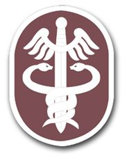 U.S. Army Medical Command Patch Vinyl Transfer Decal