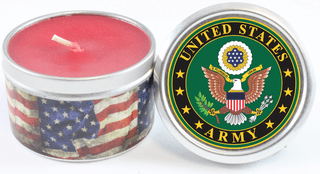 U.S. Army Emblem Scented Candles