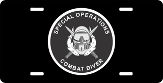 U.S. Army Special Operations Combat Diver License Plate
