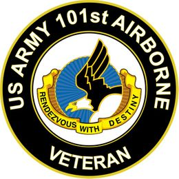 U.S. Army Veteran 101st Airborne Unit Crest Sticker Decal