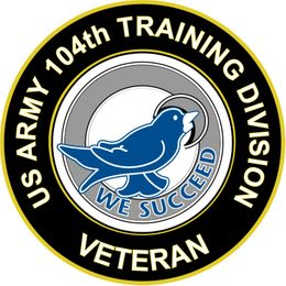 U.S. Army Veteran 104th Training Division Unit Crest Sticker Decal