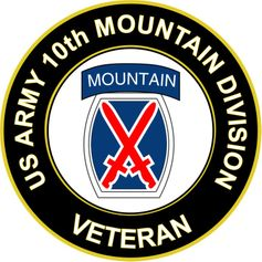 U.S. Army Veteran 10th Mountain Infantry Division Sticker
