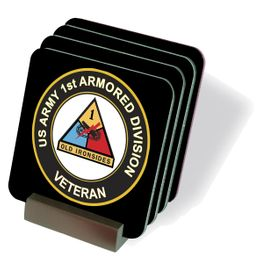 U.S. Army Veteran 1st Armored Coasters - Set of 4