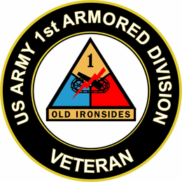 U.S. Army Veteran 1st Armored Division Sticker Decal