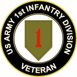 U.S. Army Veteran 1st Infantry Division Sticker Decal