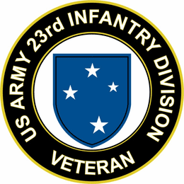 U.S. Army Veteran 23rd Infantry Division Sticker
