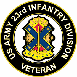 U.S. Army Veteran 23rd Infantry Division Unit Crest Sticker