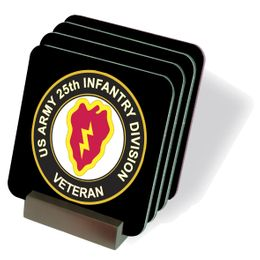 U.S. Army Veteran 25th Infantry Division Coasters - Set of 4