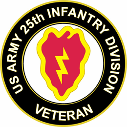 U.S. Army Veteran 25th Infantry Division Sticker Decal